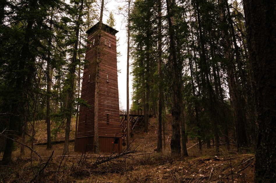 A building completed by the Civilian Conservation Corps in 1933 for hanging and drying fire hoses in Glacier National Park in Montana is still used for that purpose today.