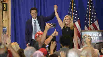 A Look At The GOP From Inside A Matt Gaetz-Marjorie Taylor Greene Rally