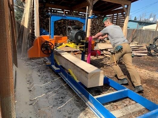 Anchorage, Alaska resident Hans Dow built his own sawmill and began milling his own boards after lumber prices skyrocketed over the last year.