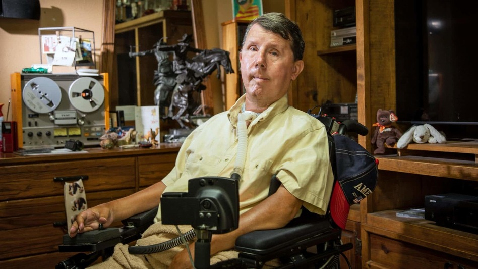 David Taylor, who has muscular dystrophy, relies on a ventilator to live. During the power outages across Texas in February, he had to be transported to a hospital before his ventilator's backup battery ran out.
