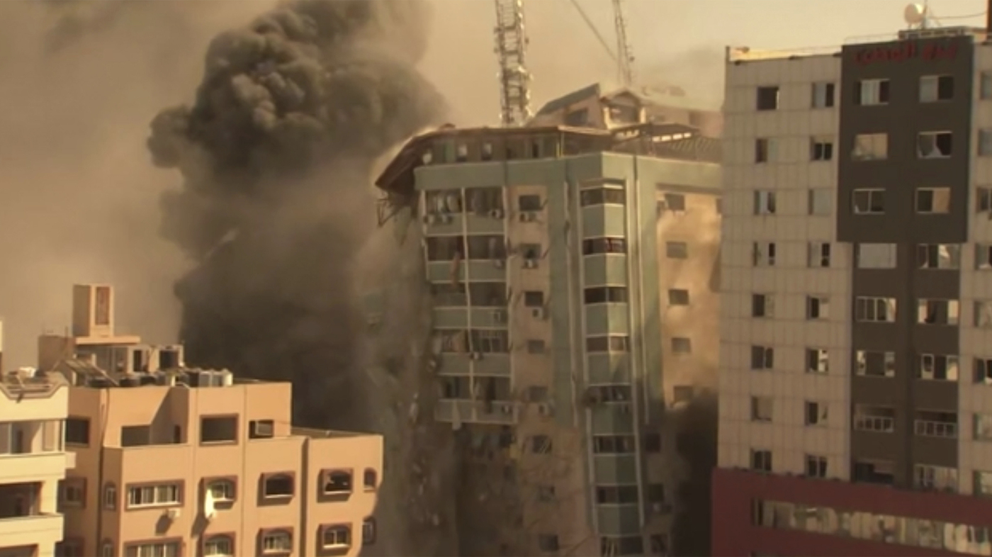 Israeli Strike In Gaza Destroys Building That Housed AP, Other Media