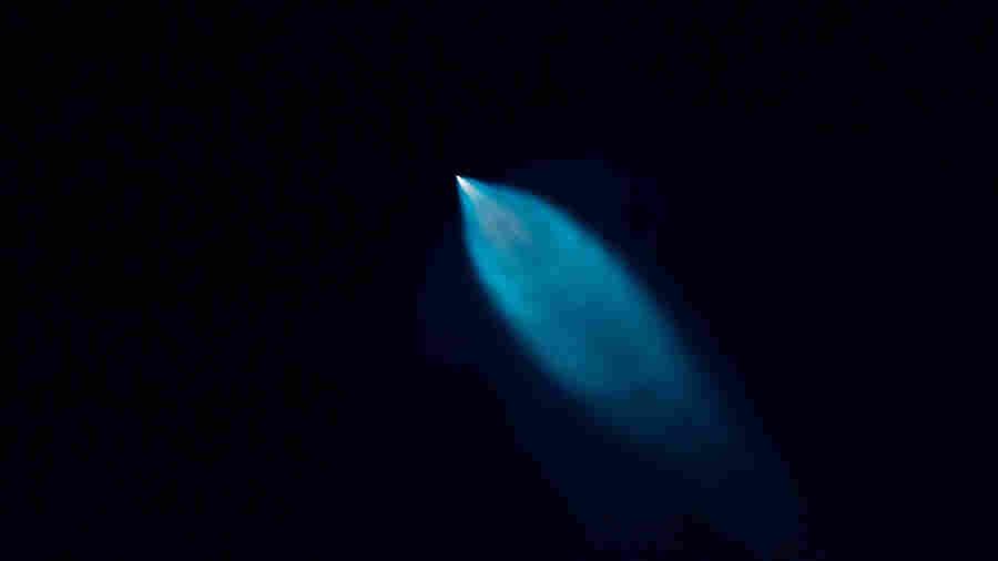 Green, Violet, Oh My: NASA Rocket Launch Lights Up Eastern Skies
