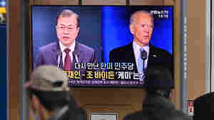 At White House Summit, South Korea's Moon Will Make A Push For North Korea Peace