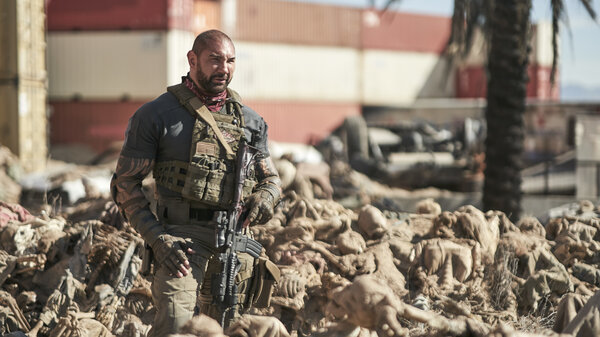Dave Bautista stars in Zack Snyder's Netflix zombie flick, Army Of The Dead.