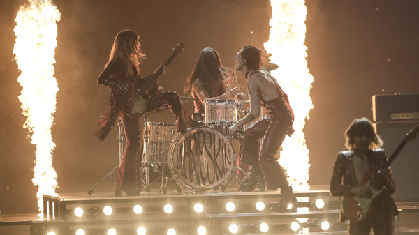 Maneskin from Italy performs