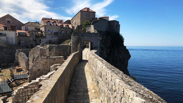 Dubrovnik's city wall is the biggest tourist draw to the city, especially for Game of Thrones fans, as many scenes were filmed atop the wall. But since the pandemic began, the wall has been largely empty.