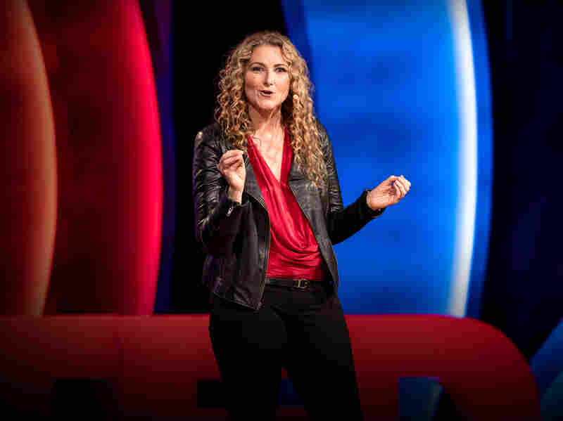 Jen Gunter on the TED stage.