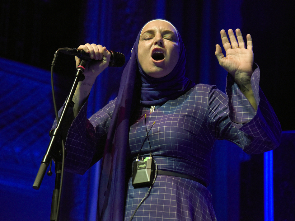 Sinead O'Connor performs at August Hall in San Francisco, Calif., in February 2020. (Tim Mosenfelder/Getty Images)