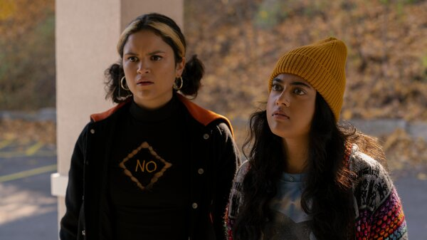 Victoria Moroles plays Lupe, and Kuhoo Verma plays Sunny in the film Plan B.