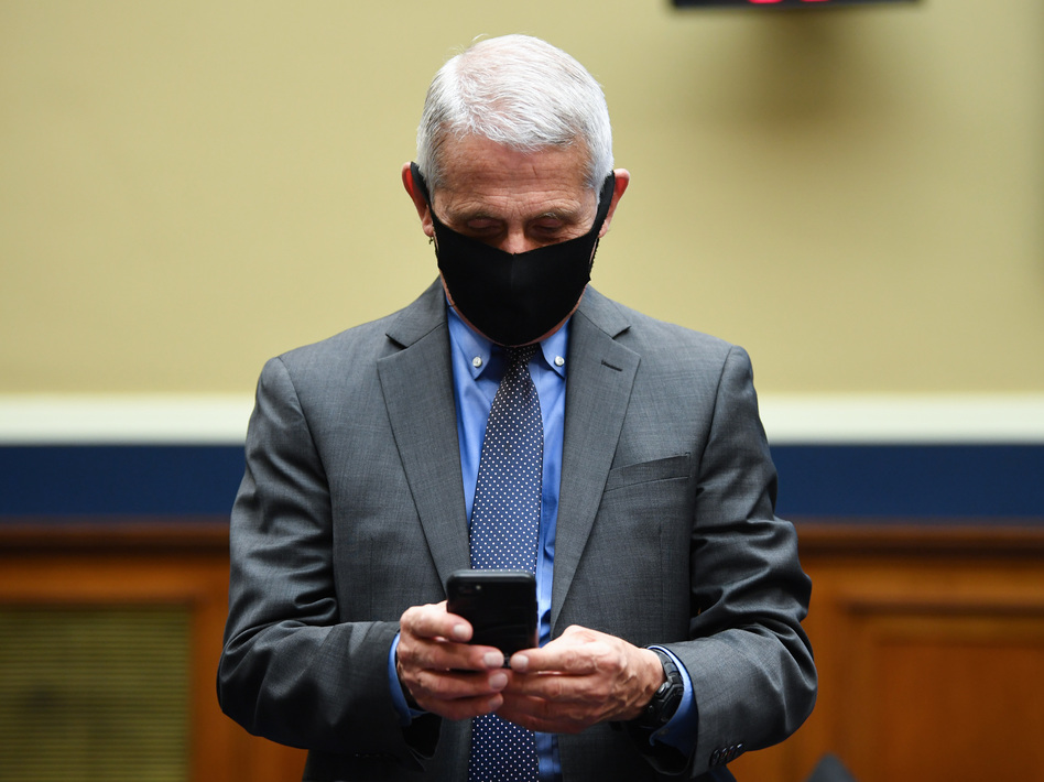 Thousands of pages of Dr. Anthony Fauci's work emails from January to June 2020 have been released via Freedom of Information Act requests by news organizations. Fauci is seen here before he testifies in front of a Senate committee last June. (Kevin Dietsch/AFP via Getty Images)