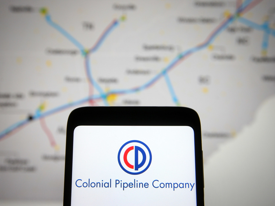 """Colonial Pipeline CEO Joe Blount says that paying a multi-million dollar ransom to get a large portion of the East Coast's fuel supply back online was """"the right decision to make for the country."""" (Pavlo Gonchar/Getty Images)"""