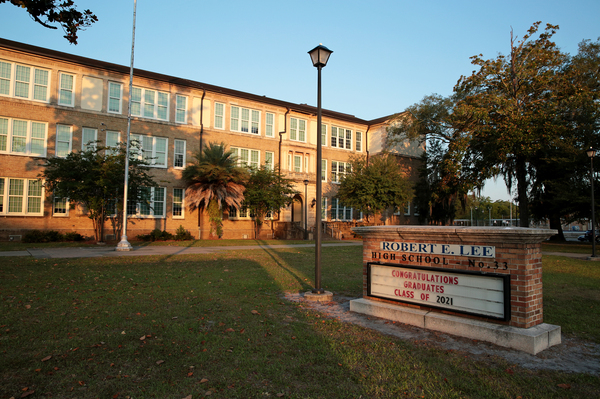 Robert E. Lee High School in Jacksonville, Fla., is one of many schools in Duval County named after confederate figures.