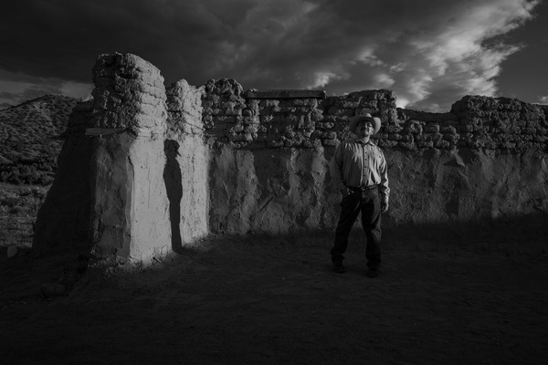 Photographer Russel Albert Daniels Din  Ho-Chunk is based in Salt Lake City His projects explore identity memory and history In this photo Delvin Garcia stands in the remains of an 18th century Catholic church in New Mexico Garcia is a descendent of a Genzaro family from Abiqui NM Genzaro was a Spanish imperial caste of Indigenous enslaved people in the Southwest borderlands