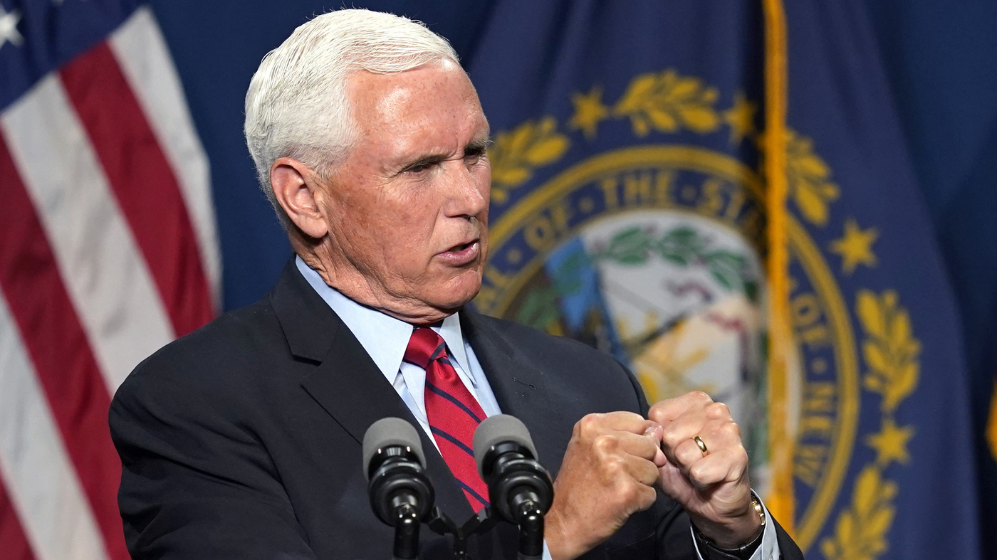 Pence Says He And Trump May Never 'See Eye To Eye' On Jan. 6 – NPR