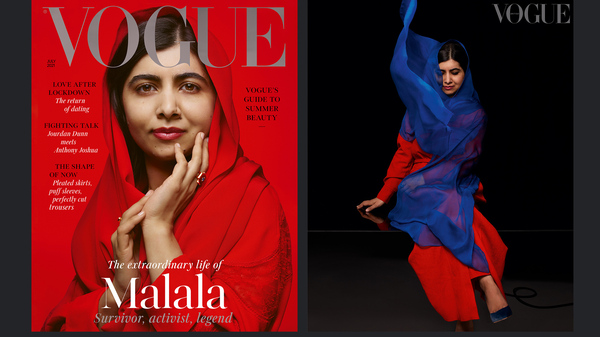 Malala Yousafzai is the subject of the cover story in the new issue of British Vogue. A comment she made about marriage has prompted social media outrage in Pakistan.