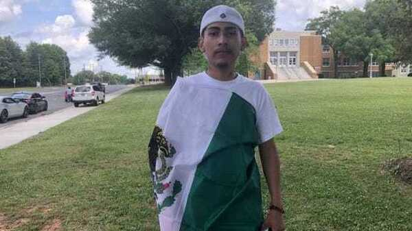 Ever Lopez, 18, wore the Mexican flag over his graduation robe at his high school graduation ceremony. The school withheld his diploma, claiming he violated the dress code.