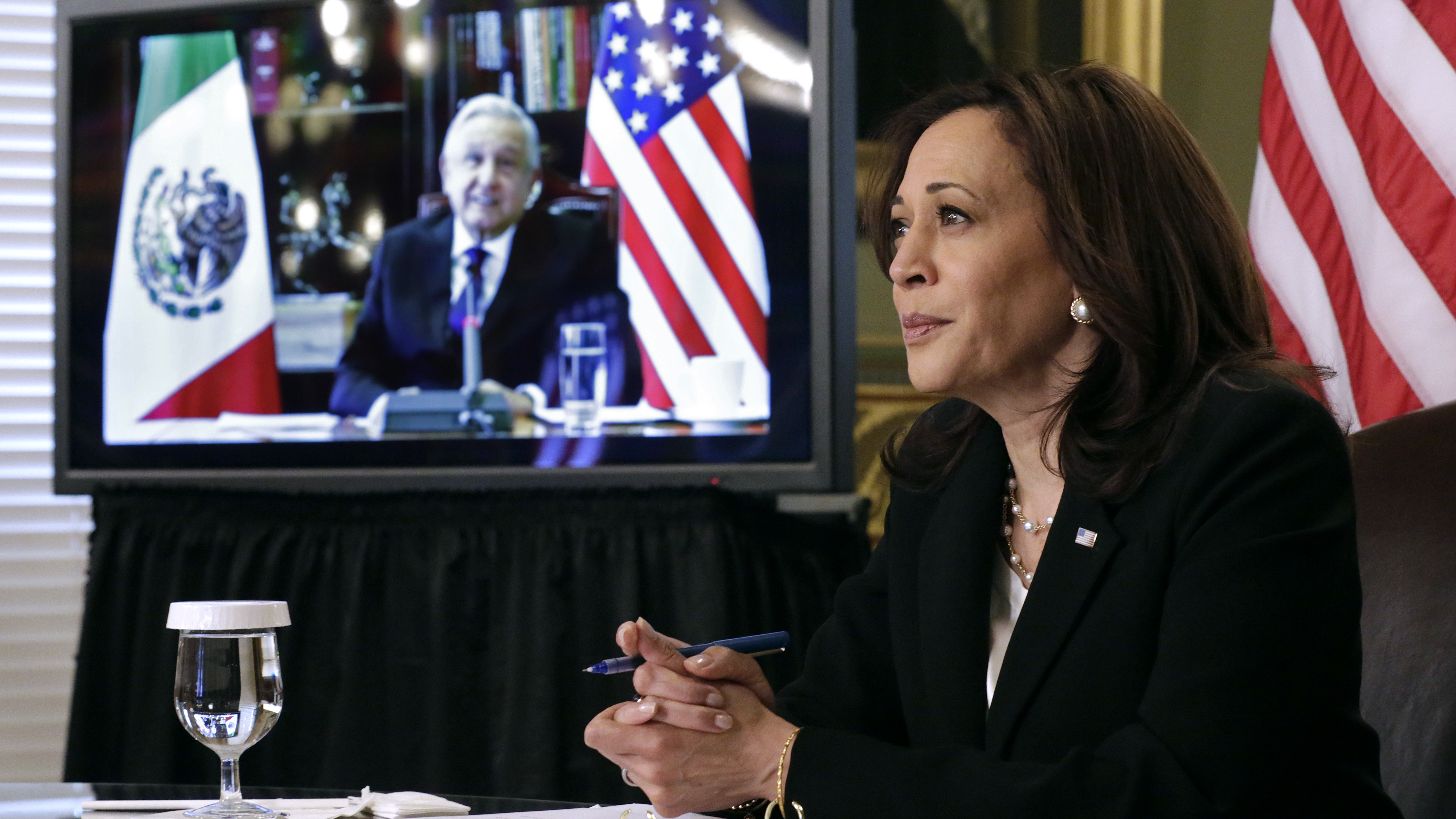 Vice President Harris has met virtually with Mexican President Andrés Manuel López Obrador, but on Tuesday, they will meet in person in Mexico City to discuss immigration issues.