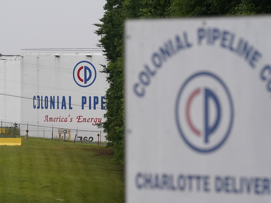 The entrance of Colonial Pipeline Co. in Charlotte, N.C. The company was the victim of a ransomware attack last month. (Chris Carlson/AP)