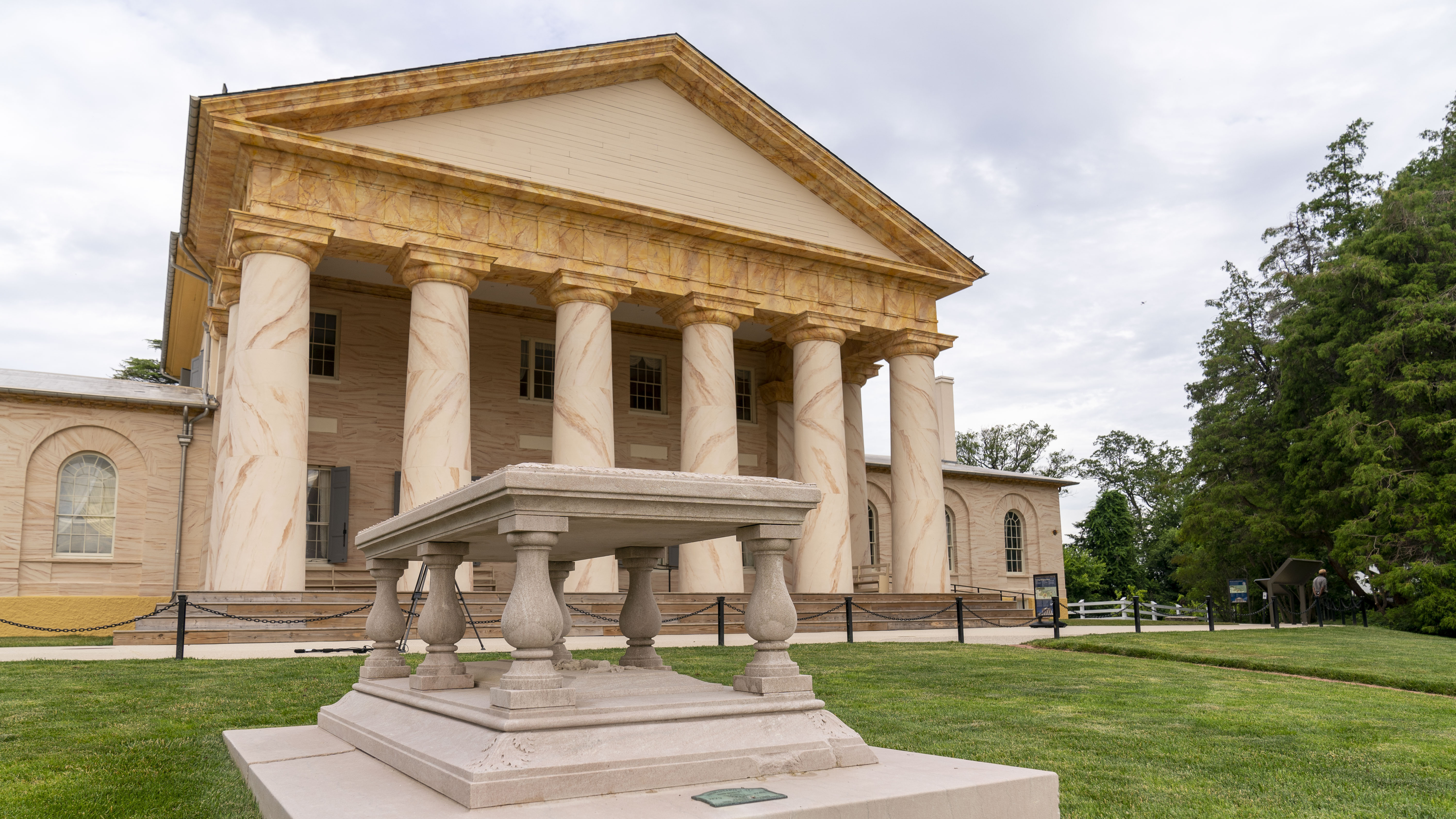 Arlington House, The Robert E. Lee Memorial, reopened to the public for the first time since 2018 on Tuesday. The Virginia mansion where Robert E. Lee once lived underwent a rehabilitation that includes an increased emphasis on those who were enslaved there.