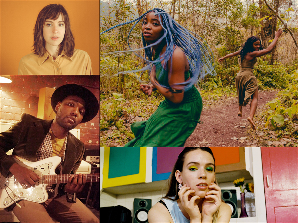 Clockwise from upper left corner: Laura Stevenson, The Narcotix, Maddie Jay, Naia Izumi (Courtesy of the artists)