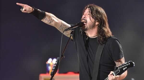 Dave Grohl of the Foo Fighters, seen here in the