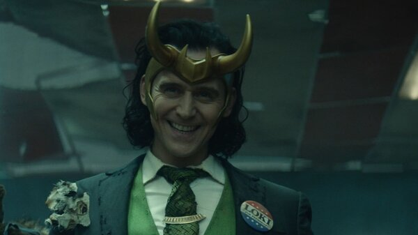 Tom Hiddleston stars as Loki in the new Marvel show on Disney+.