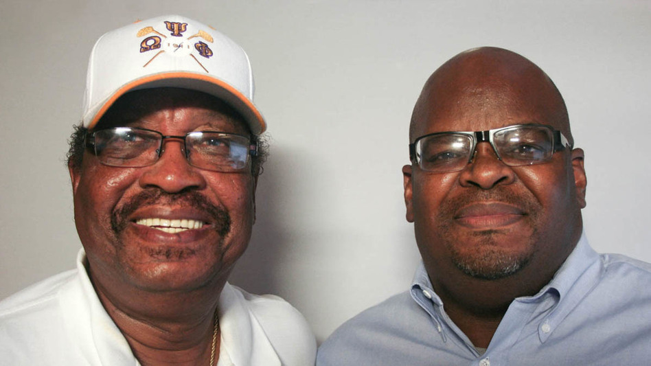 The late Rev. Farrell Duncombe (left) spoke with his friend Howard Robinson for a StoryCorps conversation in 2010 about how his role models helped shape him as a leader in his Alabama community. (Elizabeth Straight for StoryCorps)