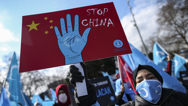 Uyghurs living in Turkey protested China in March for the country