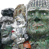 2 Artists Want G-7 Leaders To End E-Waste. So They Sculpted Them Out Of Trash