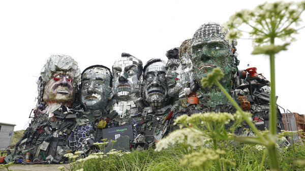 A Mount Rushmore Of Recycling Puts An Avalanche Of Waste In The Faces Of G-7 Leaders