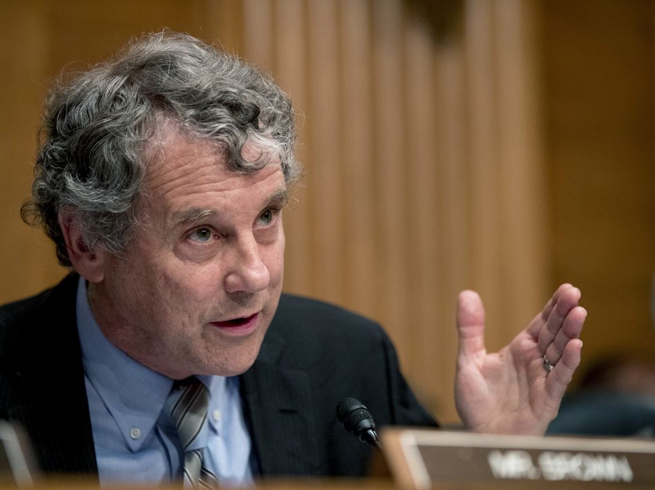 Sen. Sherrod Brown, D-Ohio, wants answers from one of the country's largest owners of single-family rental homes. A report from an advocacy group finds that the company has been filing evictions at more than four times the rate in predominantly Black counties as in mostly white counties.