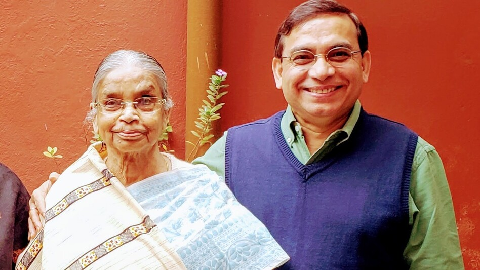 Manas Ray and his mother in 2019, the last time he was in India. (Manus Ray)