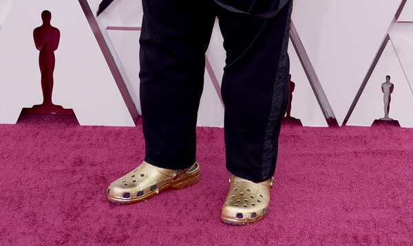 Gold Crocs were Questlove's fashion statement at this year's Academy Awards in April.