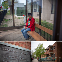 Phyllis Frelix depends on the bus that stops in front of her building in Cleveland's Lakeview Terrace neighborhood.