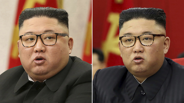 Photos provided by the North Korean government shows North Korean leader Kim Jong Un at Workers