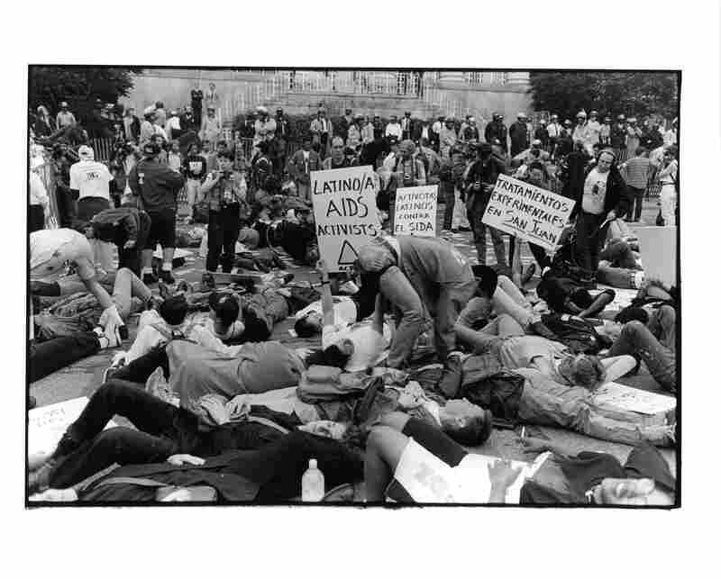 The Latino Caucus at Storm the NIH on May 21, 1990(Photograph by Dona Ann McAdams)