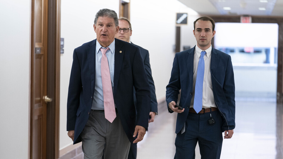 Sen. Joe Manchin, D-W.Va., has unveiled a series of voting and election provisions he'd support. (Sarah Silbiger/Bloomberg via Getty Images)