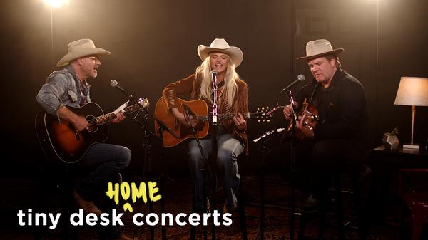 Jack Ingram, Miranda Lambert and Jon Randall perform a Tiny Desk (Home) concert.