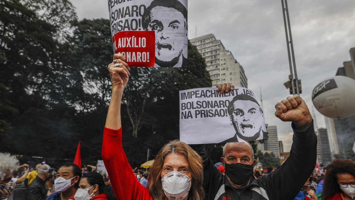 As Brazil Tops 500000 COVID-19 Deaths, Protesters Blame President - NPR