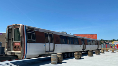 What It Took To Get A Whole Metro Car Into Edgewood's New Metrobar