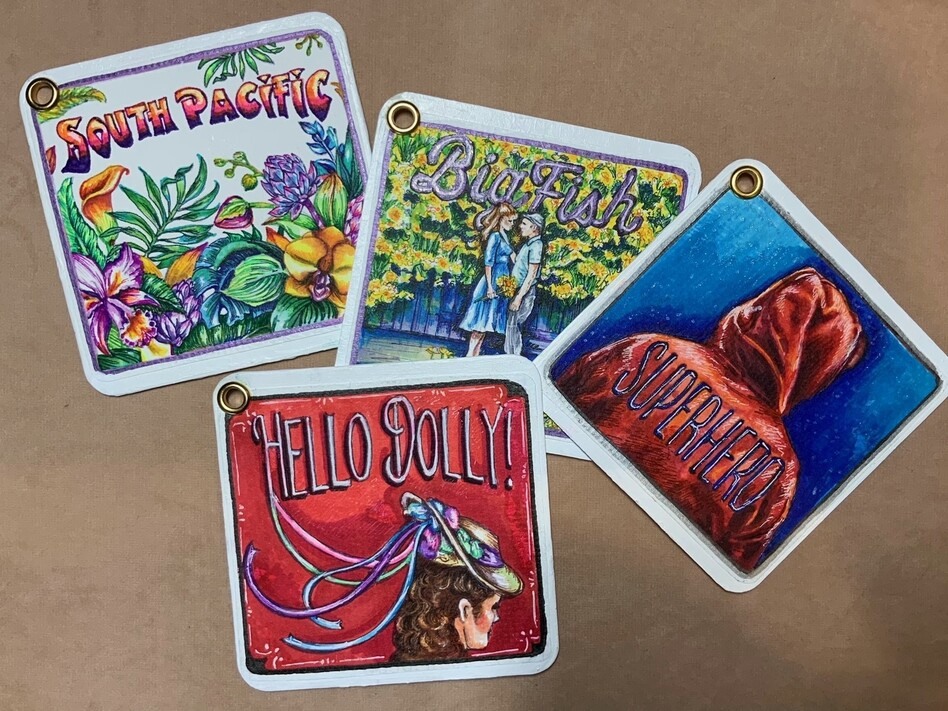 With in-person shows cancelled, costume designer Ivania Stack has been making personalized coasters to make a little extra money during the pandemic. (Courtesy of Ivania Stack)