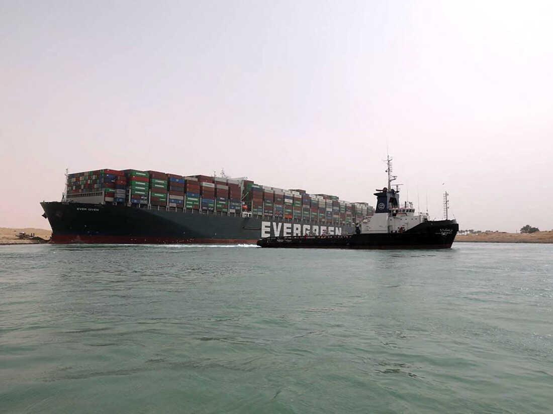 (Photo by Suez Canal Authority/Handout/AFP via Getty Images)