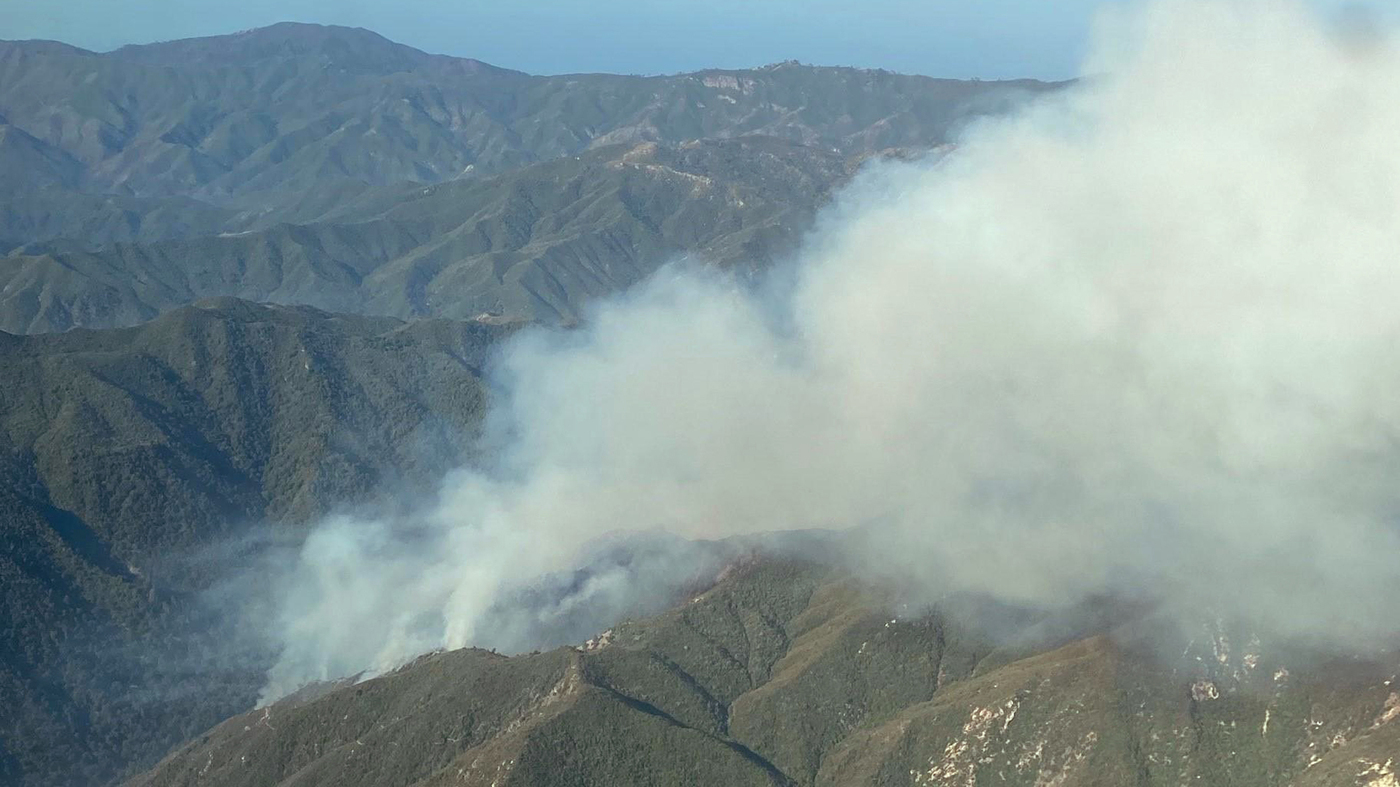 Firefighting Monks Join Effort To Combat The Willow Fire In A Remote Area Of Big Sur
