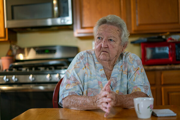 Donnie Speight, 77, and her husband, Stephen, survived Hurricane Laura in 2020. But they couldn't afford to fix most of the damage to their home in DeQuincy, La.