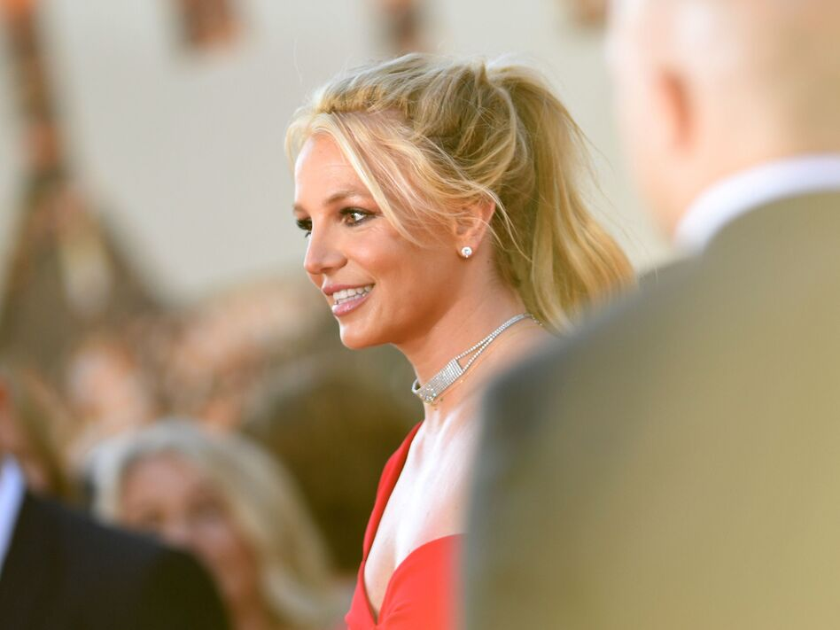 Britney Spears arrives for a movie premiere in Hollywood, Calif., on July 22, 2019. On Wednesday, the singer asked a judge to end her conservatorship. (Valerie Macon/AFP via Getty Images)