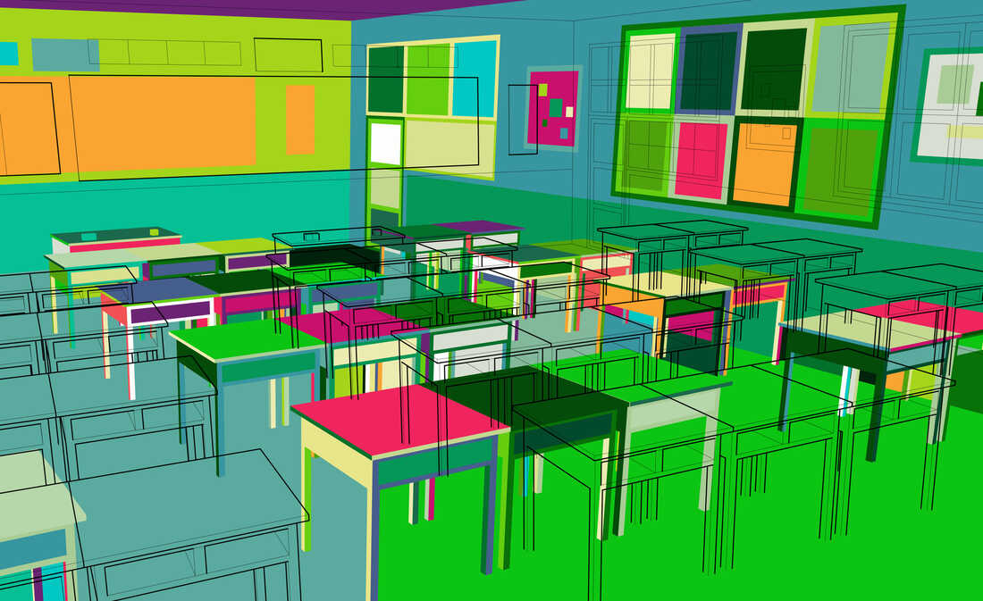 colorful classroom pattern