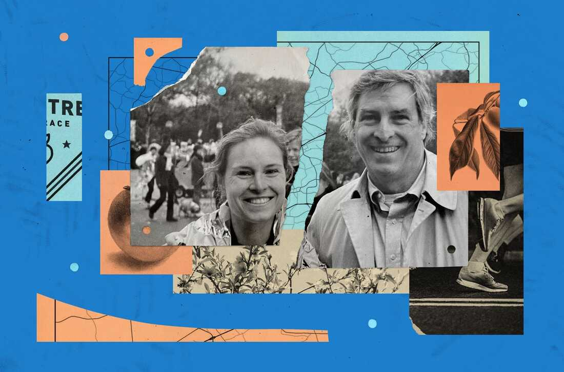 Photo illustration of Mary Louise Kelly and her father Jim Kelly.