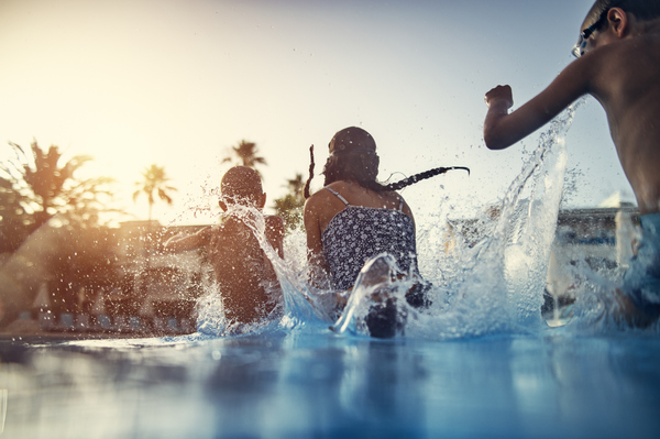 """To help keep weak swimmers safe, stay """"touch-close"""" and don't rely on a busy lifeguard to be the only eyes on a crowded pool or beach. It's best, say experts working to prevent drownings, to designate a nondrinking adult to scan the water at any pool party or beach outing, and to rotate that """"watching"""" shift every 30 minutes to keep fresh eyes on the kids."""