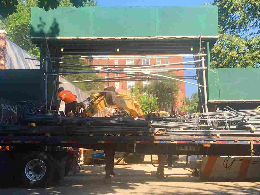 The serene moment when rebar is unloaded. (Photo by Darian Woods)