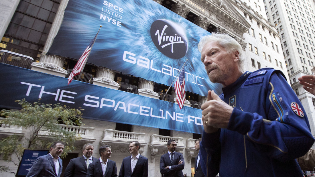 - ap21181629448957 wide e970b9238898d00487c07435ab60a770f27612ba s1100 - Richard Branson Will Beat Jeff Bezos To Outer Space : NPR